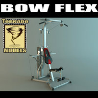 bow flex machine 3d max