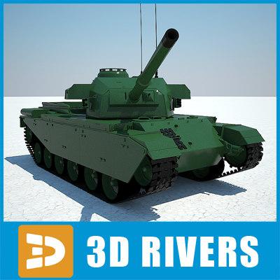 3d israel army tank shot