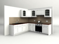 country kitchen 3d model