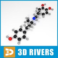 dobutamine molecule structure 3d model