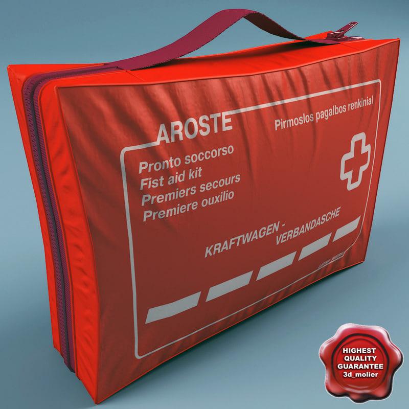 aid kit 3d model