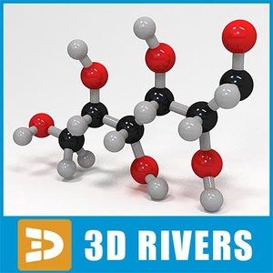 glucose molecule structure 3d model