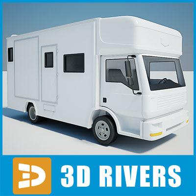 3d horse trailer