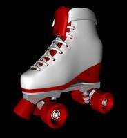 3d old school skate roller