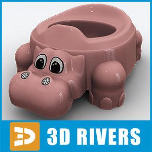 baby potty 3d max