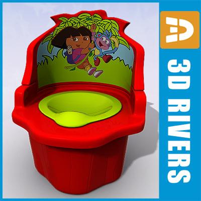 3d model baby potty