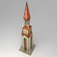fantasy tower magical 3d model