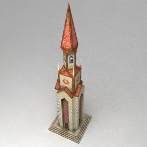 fantasy tower magical 3d model