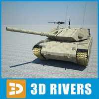 3d israel army tank magach model