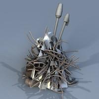 pile metalic scrap 3d model