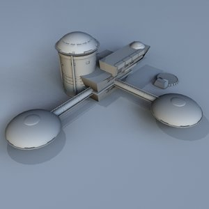 moon base station 3d 3ds