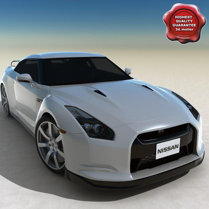 realistic nissan gt-r 3d model