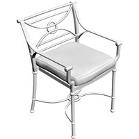 3d model bistro chair