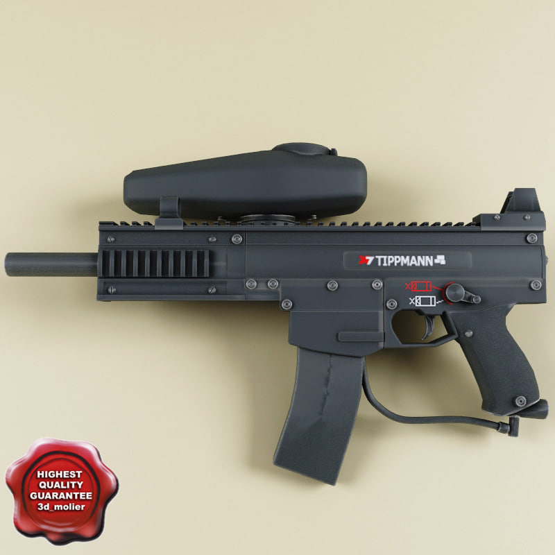 paintball marker tippmann x7 3d model