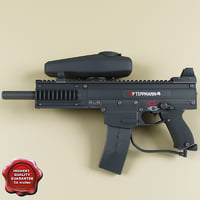 paintball marker tippmann x7 3d model