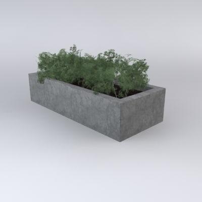 3d model concrete planter