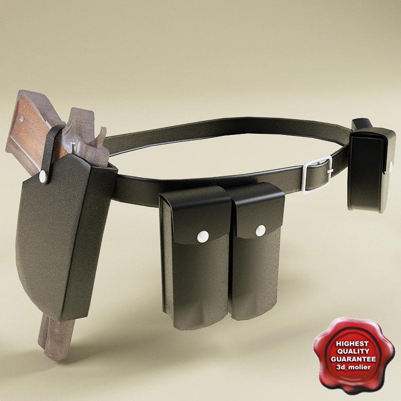 3d police equipment belt model