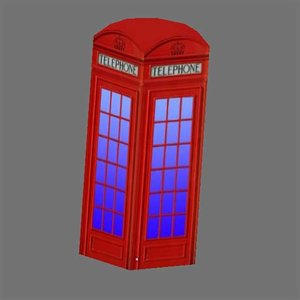 free 3ds model phonebooth