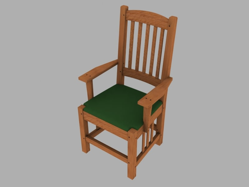 3d max arms chair