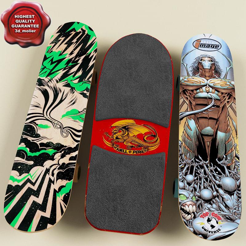 skate boards 3d model