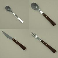3d model cutlery