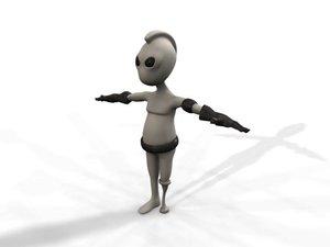 3d alien wooden leg