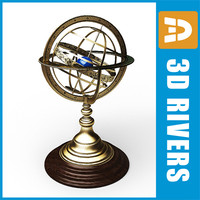 3d model old armillary sphere