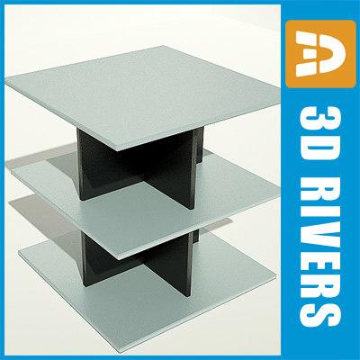3d bookshelf books retail model
