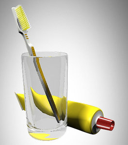 3ds max toothbroosh caladont glass