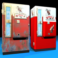 cola machine retro 01 3d model