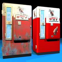 cola machine retro 01 3d model