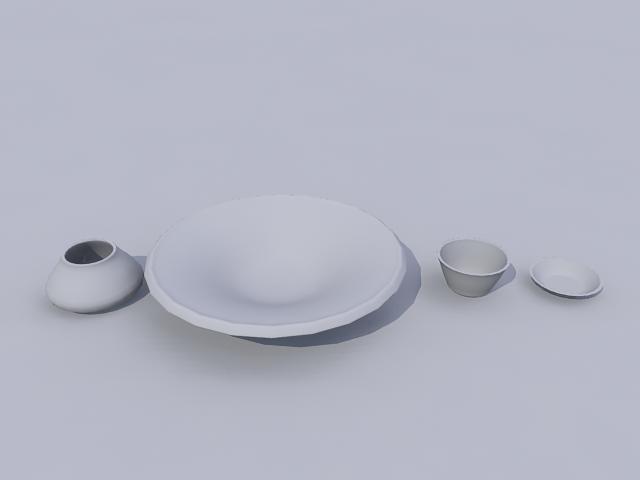 bowls 3d model