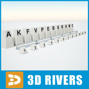 3ds max equestrian field markers