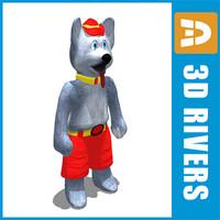 3d harvey hockey mascot model