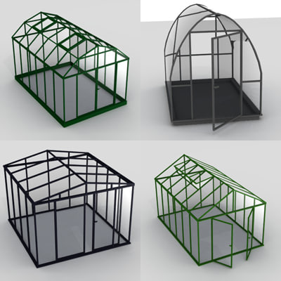 house green greenhouse 3d max