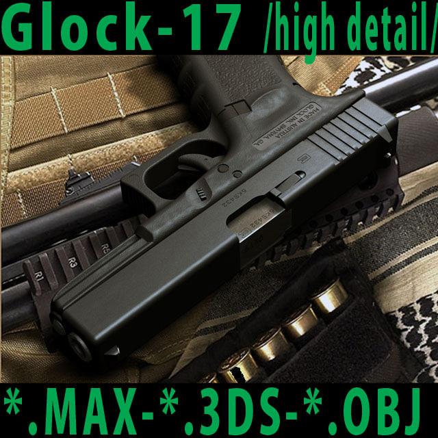 3d weapon glock17 model