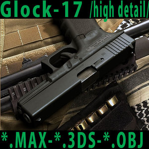 3d weapon glock17 model
