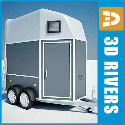 3d max horse trailer