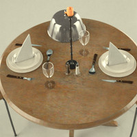 table plates fork 3d 3ds