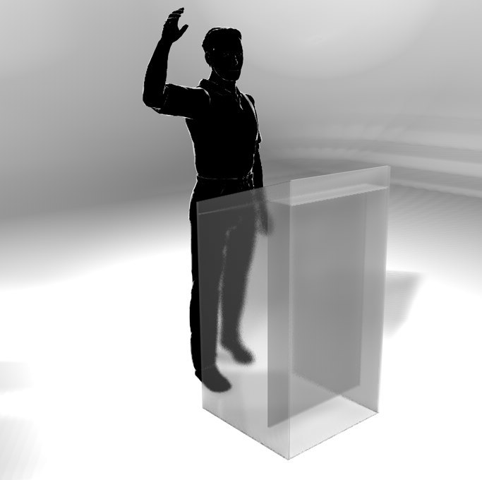 cinema4d lectern frosted