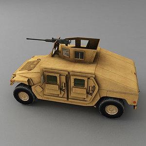 m1114 hmmwv 3d model