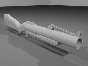 3ds max m79 grenade launcher