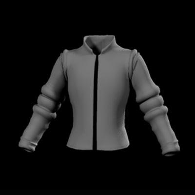 stylish jacket 3d model