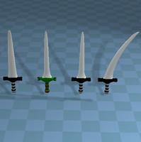 3d swords blade