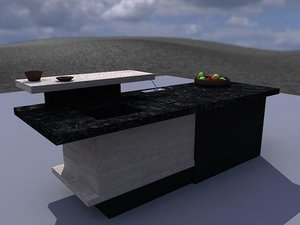 3d model table cooking