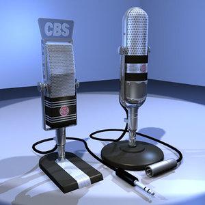 3d vintage microphone 03