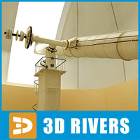 observatory telescopes 3dr091 3d 3ds