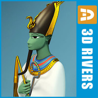 3d model osiris egyptian gods