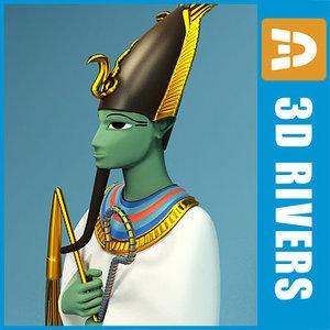 3d model osiris egyptian gods