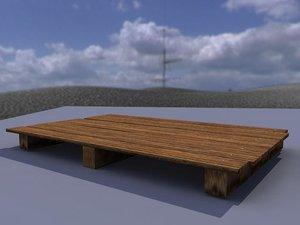 3d wood palet